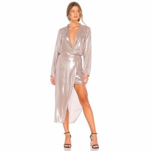 Mason Dresses - Brand New Michelle Mason Wrap Dress in Oyster
